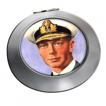 King George VI of Great Britain Chrome Mirror