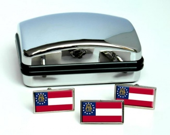 Georgia  Flag Cufflink and Tie Pin Set