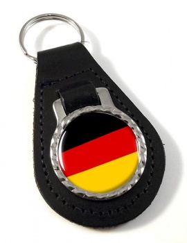 Deutschland Germany Leather Key Fob