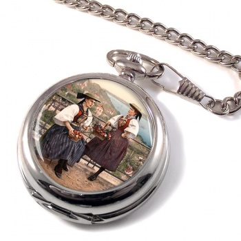 German National Costume Pocket Watch