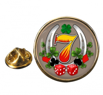 Get Lucky Round Pin Badge