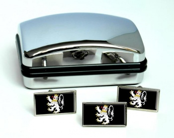 Ghent Gent Gand (Belgium) Flag Cufflink and Tie Pin Set