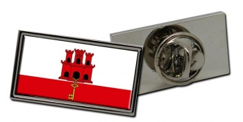 Gibraltar Flag Pin Badge