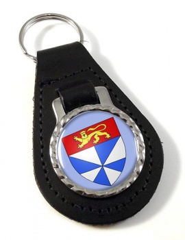 Gironde (France) Leather Key Fob