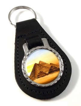 Pyramids of Giza Leather Key Fob