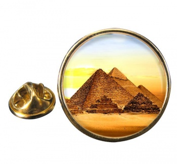 Pyramids of Giza Round Pin Badge