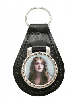Gladys Cooper Leather Key Fob