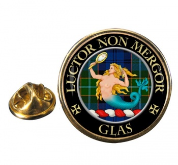Glas Scottish Clan Round Pin Badge