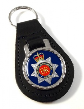 Greater Manchester Police Leather Key Fob