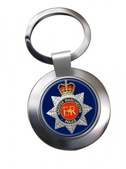 Greater Manchester Police Chrome Key Ring