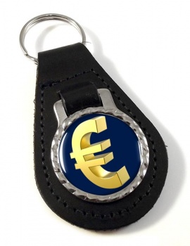 Gold-Euro Leather Key Fob
