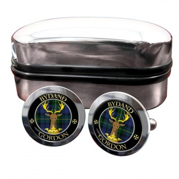 Gordon Scottish Clan Round Cufflinks