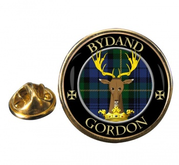 Gordon Scottish Clan Round Pin Badge