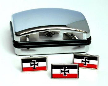 Gösch (German naval jack) Rectangle Cufflink and Tie Pin Set