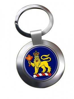 Governor General of Canada Chrome Key Ring