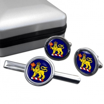 Governor General of Canada Round Cufflink and Tie Clip Set