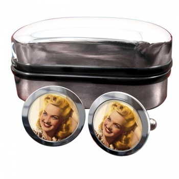 Betty Grable Round Cufflinks