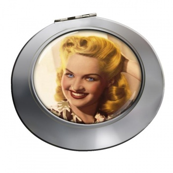 Betty Grable Chrome Mirror