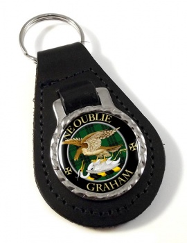 Graham Scottish Clan Leather Key Fob