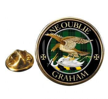 Graham Scottish Clan Round Pin Badge