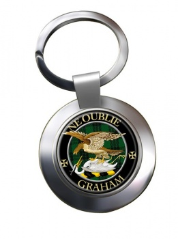 Graham Scottish Clan Chrome Key Ring