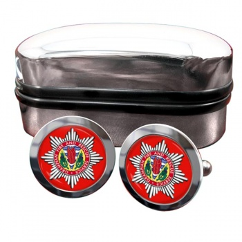Grampian Fire and Rescue Round Cufflinks