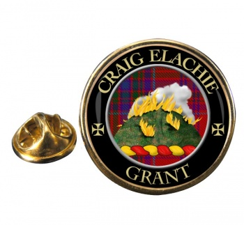 Grant Gaelic Scottish Clan Round Pin Badge