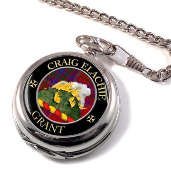 Grant Gaelic Scottish Clan Pocket Watch