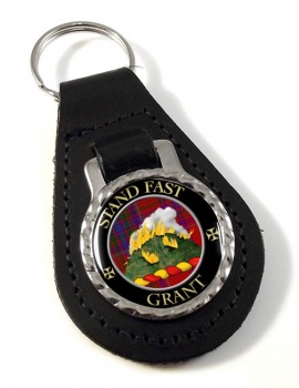 Grant English Scottish Clan Leather Key Fob