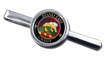 Grant English Scottish Clan Round Tie Clip