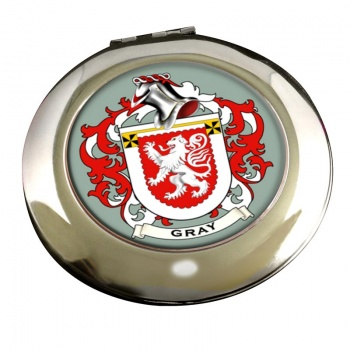 Gray Coat of Arms Chrome Mirror