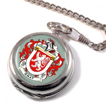 Gray Coat of Arms Pocket Watch