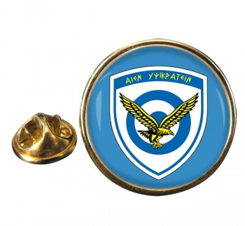 Hellenic Air Force (Greece) Round Pin Badge