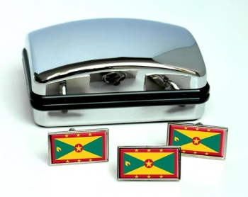 Grenada Flag Cufflink and Tie Pin Set