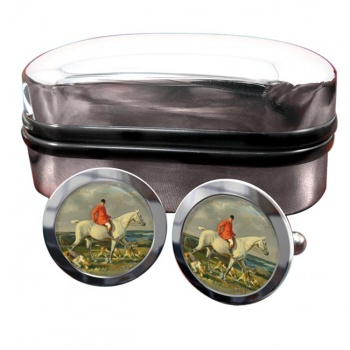 Grey Hunter Round Cufflinks