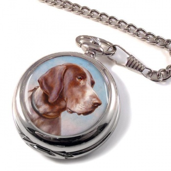 German Shorthaired Pointer by Carl Reichert Pocket Watch