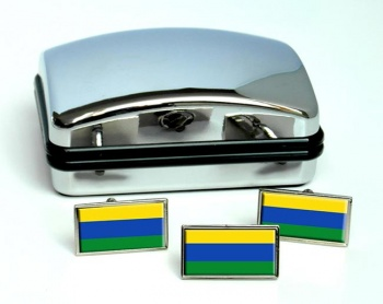 Guainia (Colombia) Flag Cufflink and Tie Pin Set