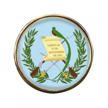 Guatemala Round Pin Badge