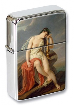Sappho on the Leucadian Cliff by Pierre-Narcisse Guerin Flip Top Lighter