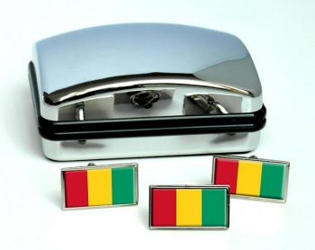 Guinea Guinee Flag Cufflink and Tie Pin Set