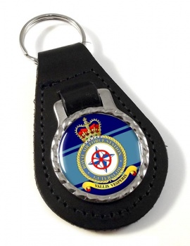RAF Station Gütersloh Leather Key Fob