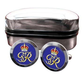 George VI monogram  Round Cufflinks