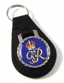 George VI monogram  Leather Key Fob