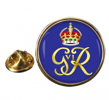 George VI monogram  Round Pin Badge
