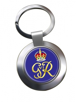 George VI monogram  Chrome Key Ring