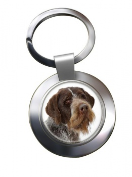German Wirehaired Pointer Metal Key Ring