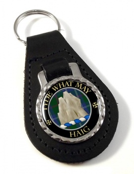 Haig Scottish Clan Leather Key Fob
