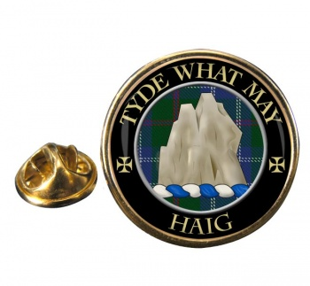Haig Scottish Clan Round Pin Badge