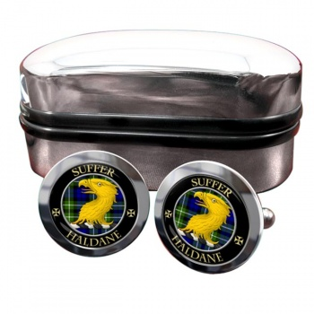 Haldane Scottish Clan Round Cufflinks