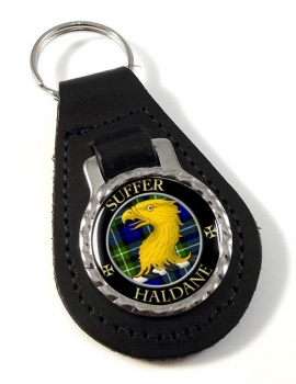 Haldane Scottish Clan Leather Key Fob